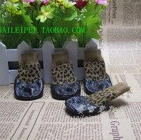 Pet Sapatos de Algodão Meias Sapatos slip-resistente À Prova D' Água sapatos de Pelúcia cães de pequeno porte