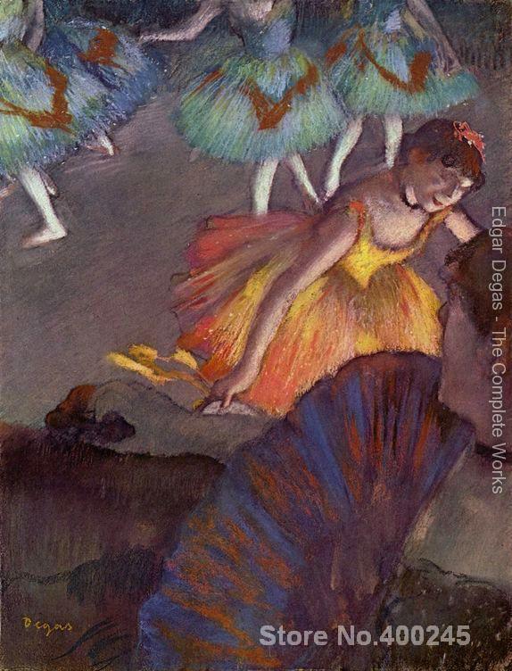 Ballet vu de une loge by Edgar Degas peintures Pour vente