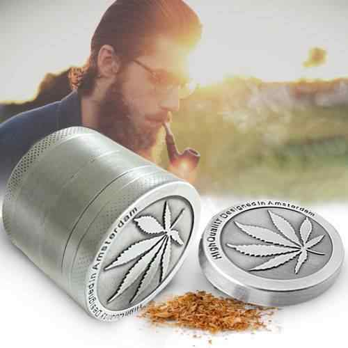New Amsterdam Folha Mão Muller Tabaco Crusher Herb Grinder Weed 4 Níveis