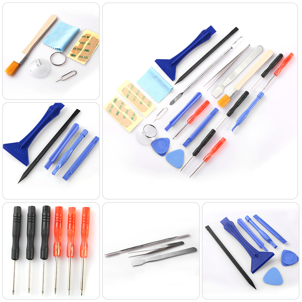 1 Satz (22 Stücke) Neue Universal & Nützliche Smartphone/pc Tablet Reparatur Eröffnung Schraubendreher Pry Werkzeuge Kit SchöN In Farbe