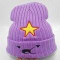 2015 новый Зима Женщины Hat Теплые Вязаные шапочки пятиконечная звезда Шапочка мода Hat Cap для женщин фиолетовый капот