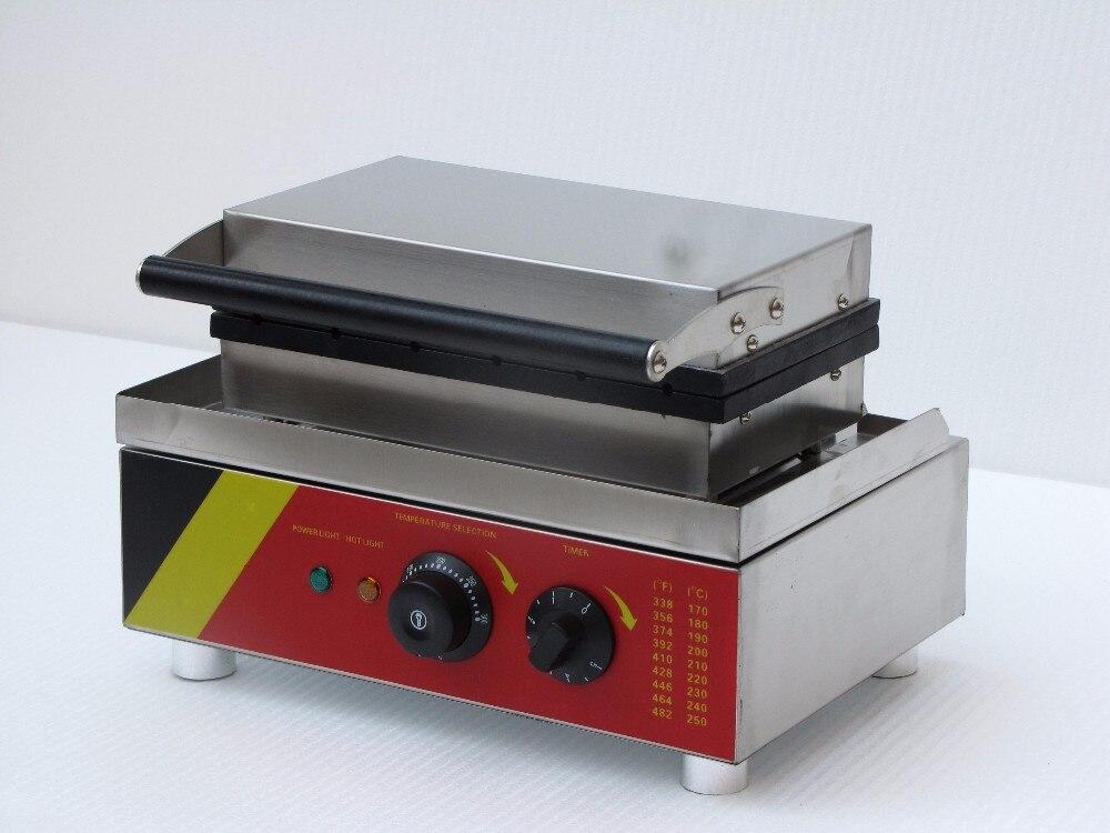 Fabricante de waffle elétrico quadrado dado forma