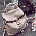 Em 2016, o novo saco de escola mochila vento colégio bolsa de viagem de lazer couro PU tecido Bolsa feminina Moda Preto Branco
