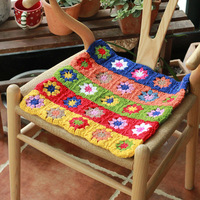 40cmx40cm Chair Cushions For Kitchen Chair Solid Color Seat Cushion Square Handhook Cushion Washable