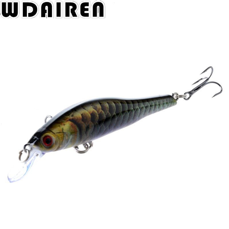 где купить 1Pcs 9.5cm 11.5g wobblers Hard Bait Minnow Crank Fishing lures Bass Fresh Salt water 6# VMC hooks Super Quality 6 Colors WD-422 дешево