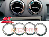 Chrome cap on air deflectors for Renault Duster 2010-2017 stainless steel interior design of car appearance chrome car styling