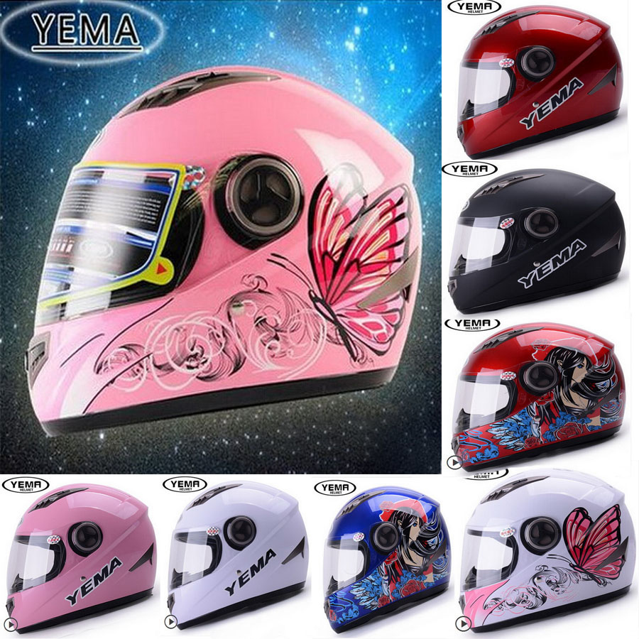2015 New YEMA YM-827 Full Face Motorcycle Helmet Motorbike helmets Electric bicycle helmet made of ABS and FREE SIZE with scarf side bang women s curly short siv hair human hair wig