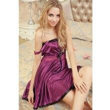 Women sleepwear nightdress long dress sexy lingerie baby dolls 7 color size XS-XL