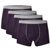 Комплект из 4 предметов Для мужчин летний дышащий ледяной шелк с вышивкой пикантные удобные трусы шортики Трусы шорты