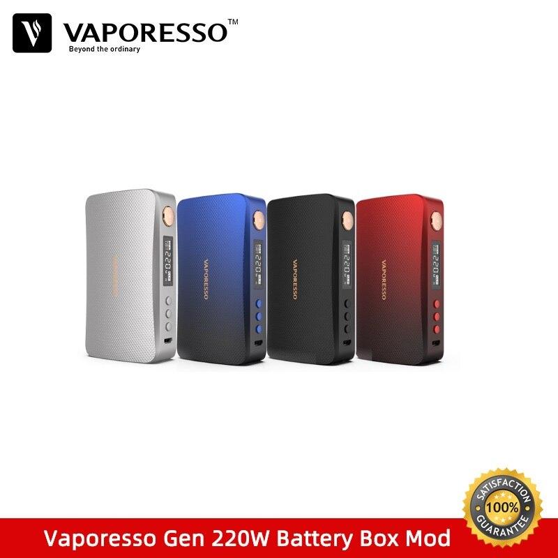 Pré-vente Vaporesso GEN 220 W TC Box Mod fit pour Skrr-S Vape réservoir vaporisateur alimenté par double 18650 batterie VS Voopoo glisser Mods boîte