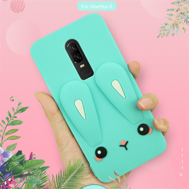 save off 92385 b5227 US $4.39 12% OFF|For OnePlus 6 Case Cute Color Rabbit Ear Soft Silicone  Case For OnePlus6 Phone Case OnePlus 6 Coque Fundas capa For One Plus 6 -in  ...