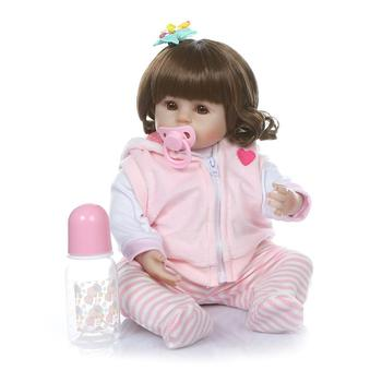 "Reborn baby dolls for girls 19"" 48cm soft vinyl silicone reborn dolls bebe alive reborn toddler l.o.l dolls gifts"