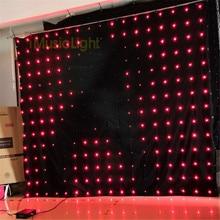 P18 2,5 м* 3M светодиодный видео занавес фон с DMX контроллером 60 анимированных узоров Рождественский эффект светильник светодиодный видение ткань