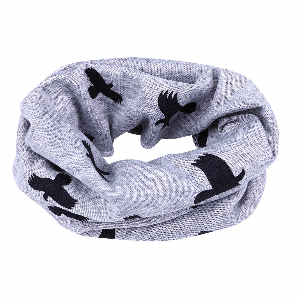 2019 Fashion Baby Winter Scarf Lace Print Warm Toddler Scarf Hollow Sun Hat Snood For A Boy Girls Шарф Снуд Детский # F20