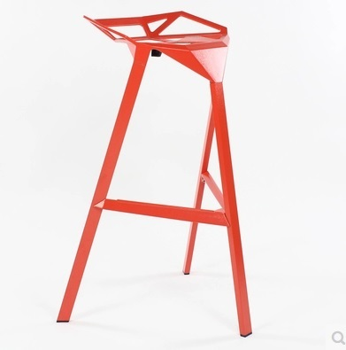 Modern Dining Room Plastic Material Bar Stool Black&Red& White Color Free Shipping