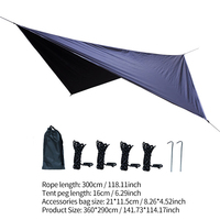 Waterproof Top Cover Sail Canopy UV Resistant Sun Shelter Sunshade Protection Sail Awning Shade Cloth Outdoor Hammock Canopy
