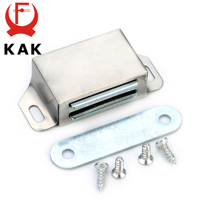 KAK-519 Stainless Steel Magnetic Cabinet Catches Push to Open Touch Kitchen Door Stop Damper Buffers With Screws For Hardware