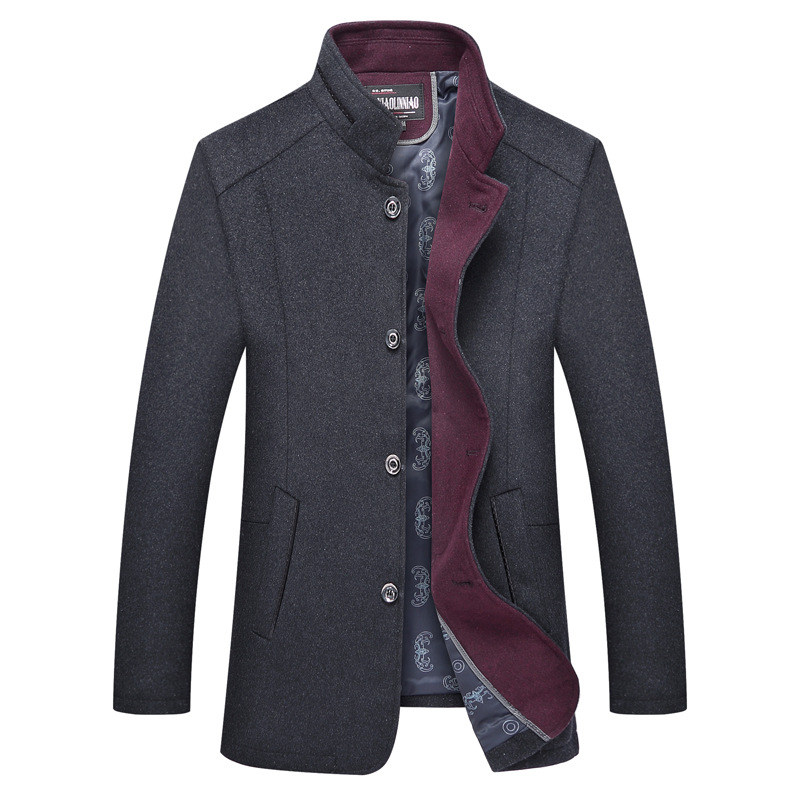 2057370795 ᐂ Big promotion for mens wool coat with fur and get free shipping ...