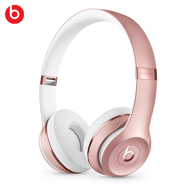 US $274 99 |Beats Solo3 Wireless Bluetooth Headphones RoseGold Anti Noise  Cancelling Dynamic APP Control Bluetooth Headsets With Microphone-in