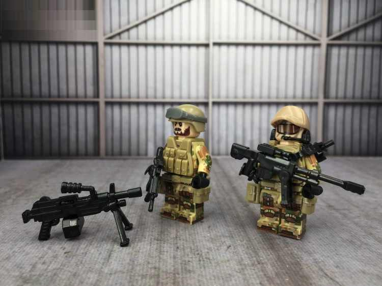 MOC Special Forces Sniper Military Gun Weapons City Police Parts Playmobil Mini Figures Building Block Brick Original Toys