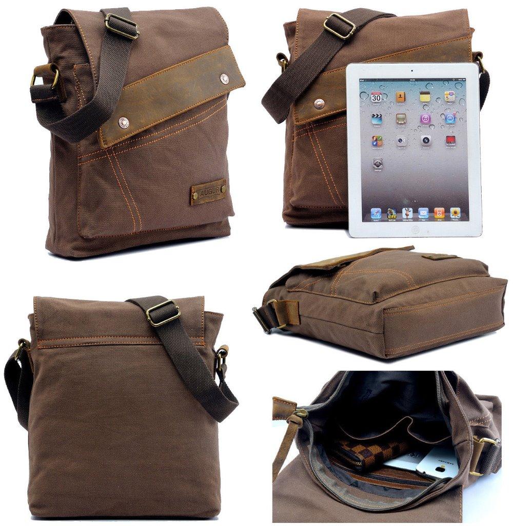 2016 Men's Vintage Canvas Hand bag Men Business Crossbody Leather Satchel School Military Shoulder Bag Messenger casual canvas satchel men sling bag