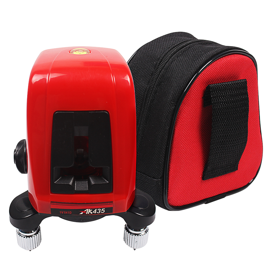 ФОТО AK435 360 degree self-leveling Cross Laser Level 1V1H Red 2 line 1 point Rotary Horizontal Vertical Red Laser Levels Cross laser