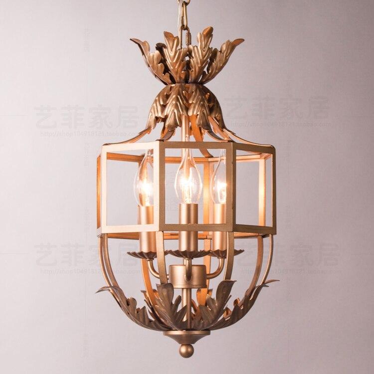 Европейский ретро сделать старый стиль аканта лист метод подвесной светильник спальня проход крыльцо спальня висит освещения