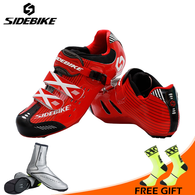 Sidebike Hommes Respirant Route Chaussures De Vélo Auto-lock Route Vélo Chaussures Toute La Saison Vélo Sport Chaussures Sneakers Sapatos ciclismo