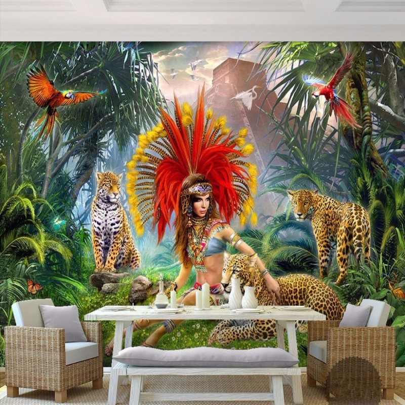 Forest animal photos promotion shop for promotional forest for Custom mural painting