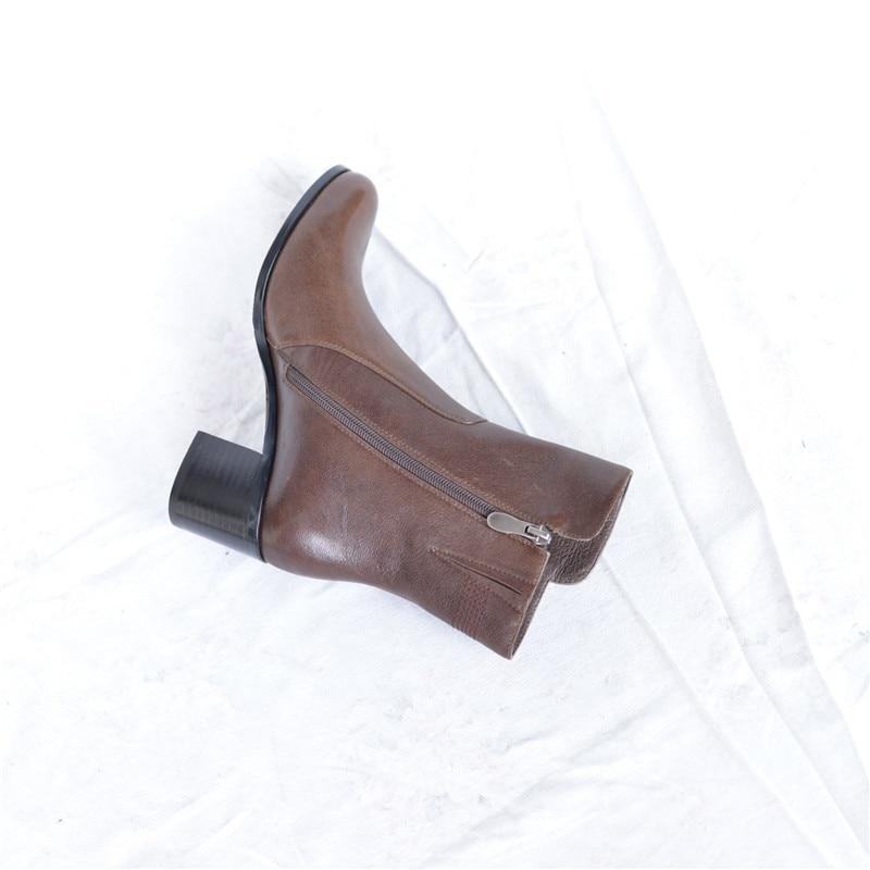 2018 Ladies sheepskin bottes femmes winter women botas mujer handmade shoes girls warm plush lining boots Pritivimin FN41B