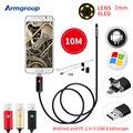Armgroup 7 MM 2EM1 Micro Mini USB Endoscópica Endoscópio Câmera HD 10 M Android Telefone À Prova D' Água Câmera de Inspeção Borescope USB OTG