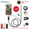 Armgroup 7MM 2IN1 Micro Mini USB Endoscope HD Camera 10M Android Phone Endoscopic Waterproof Inspection Borescope USB Camera OTG
