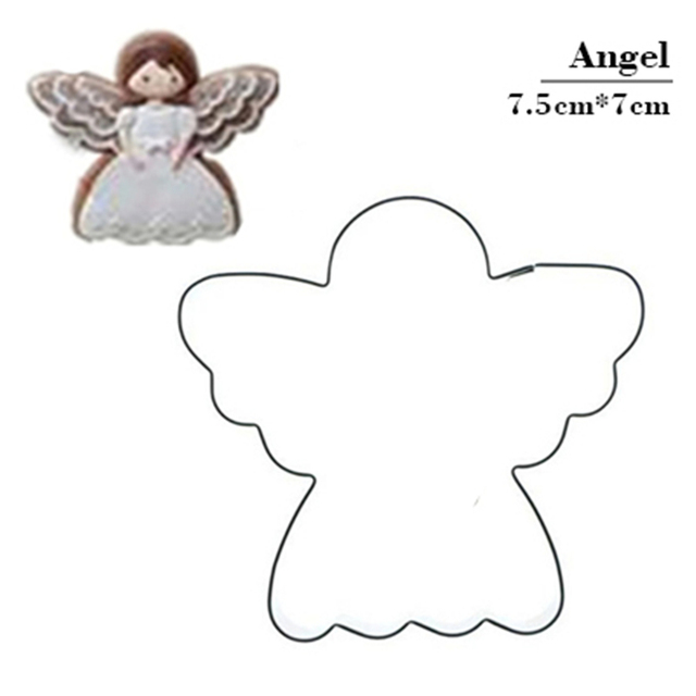Angel Cake Decoration Pastry Blender Biscuit Cookie Cutter Tools Kitchen Supplies Stainless Steel Chinese New Year Gifts