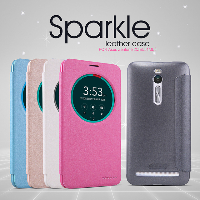 premium selection b4640 c2cde US $8.99 |For ASUS Zenfone 2 5.5'' Case Original Nillkin Flip Leather Smart  Cover for Zenfone 2 ZE551ML ZE550ML Sleep Wake Phone Shell-in Flip Cases ...