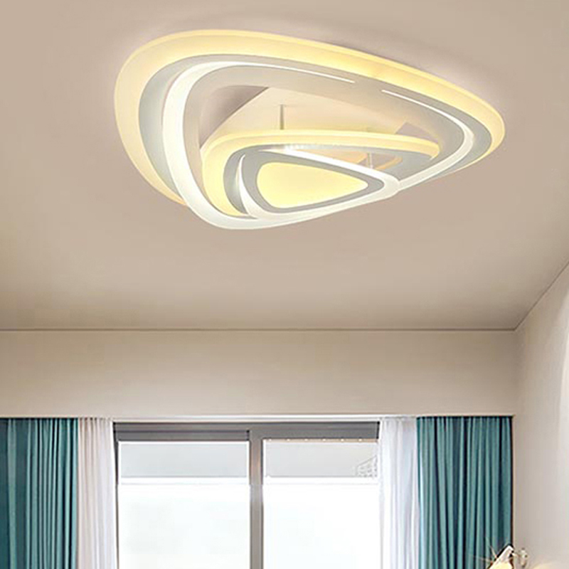 Modern Led Acrylic Ring Ceiling Light With Remote Control Lampara Techo Plafondlamp Nordic Design Avize Lamps For Living Room