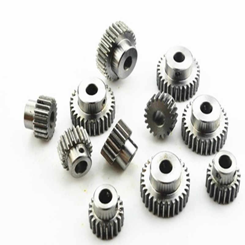 1 個 Mod 1 メートル = 1 CNC 平歯車ピニオン 20 T 20 歯 (内孔 6.35 ミリメートル) 右歯正ギア 45 # 鋼ギアラック伝送