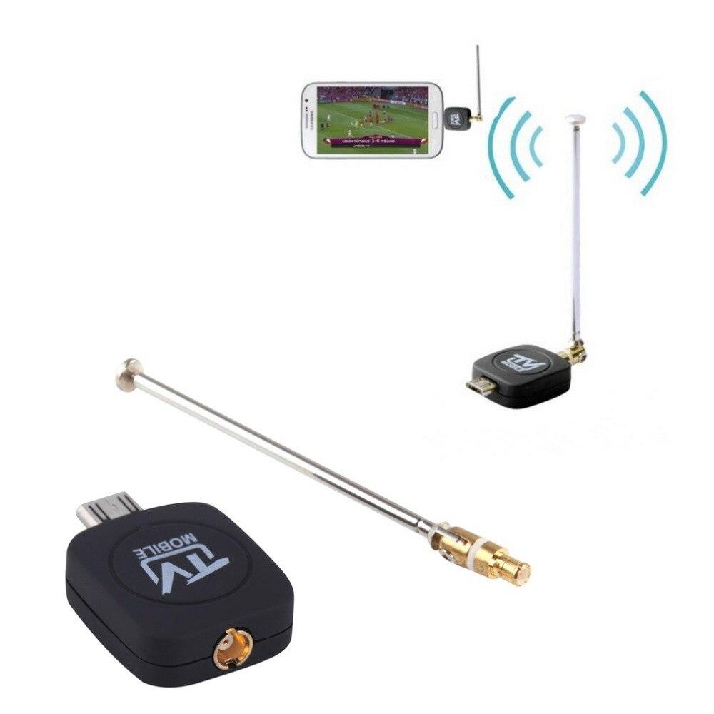 Hohe Qualität DVB-T Micro USB Tuner Mobile TV Empfänger Stick Für Android Tablet Pad Telefon Digital Satellite Dongle Schwarz