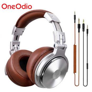 Oneodio Professional Studio DJ auriculares con micrófono sobre la oreja auriculares para monitores HiFi auriculares plegables para juegos para PC
