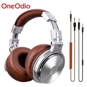 Image 1 - Oneodio estúdio profissional dj fones de ouvido com microfone sobre a orelha com fio monitores de alta fidelidade dobrável gaming headset para pc