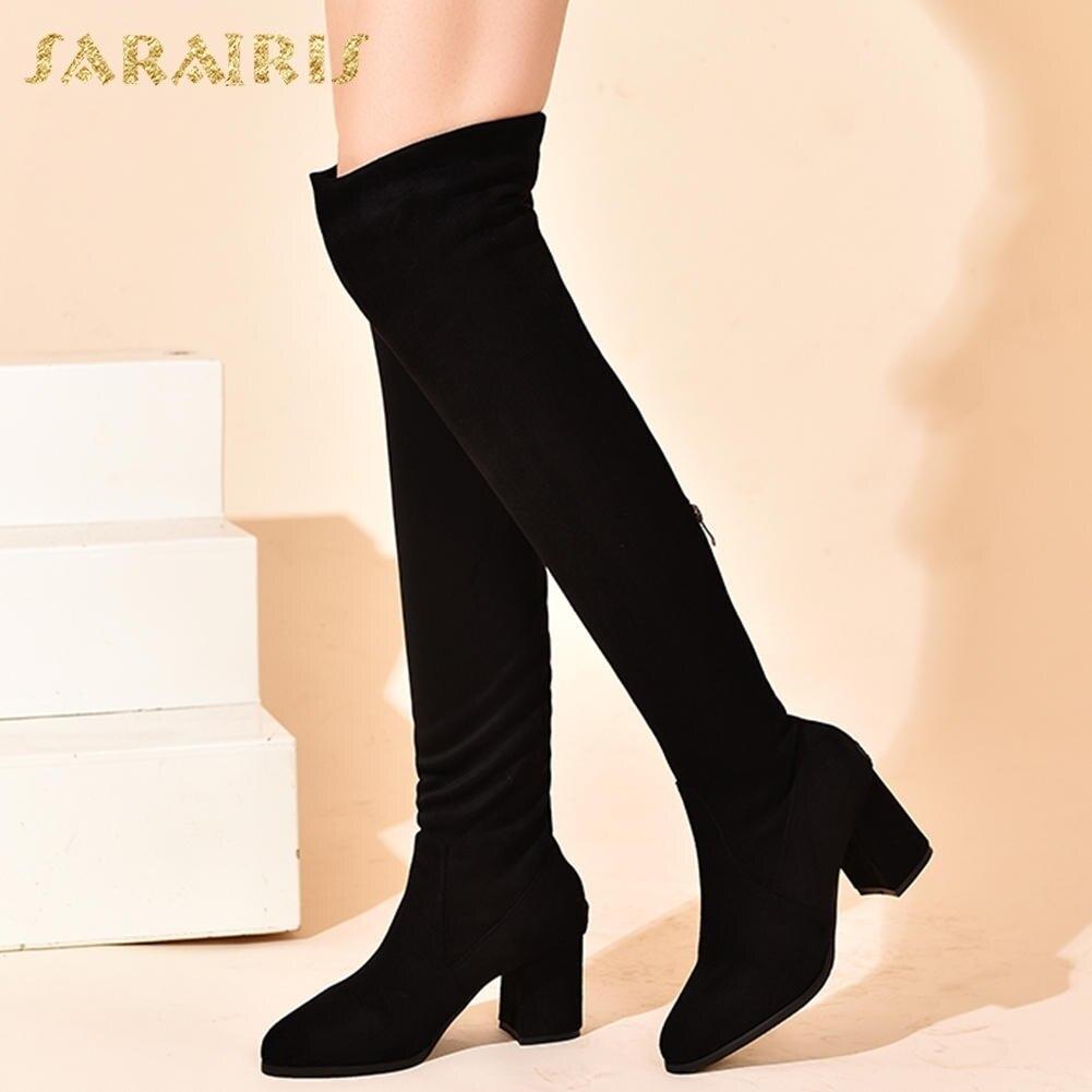 b9c3059a9e67 Up Femme Taille vin Rouge Noir the Stretch Party Nouveau genou Tissu  Chaussures Over Zip Plus ...
