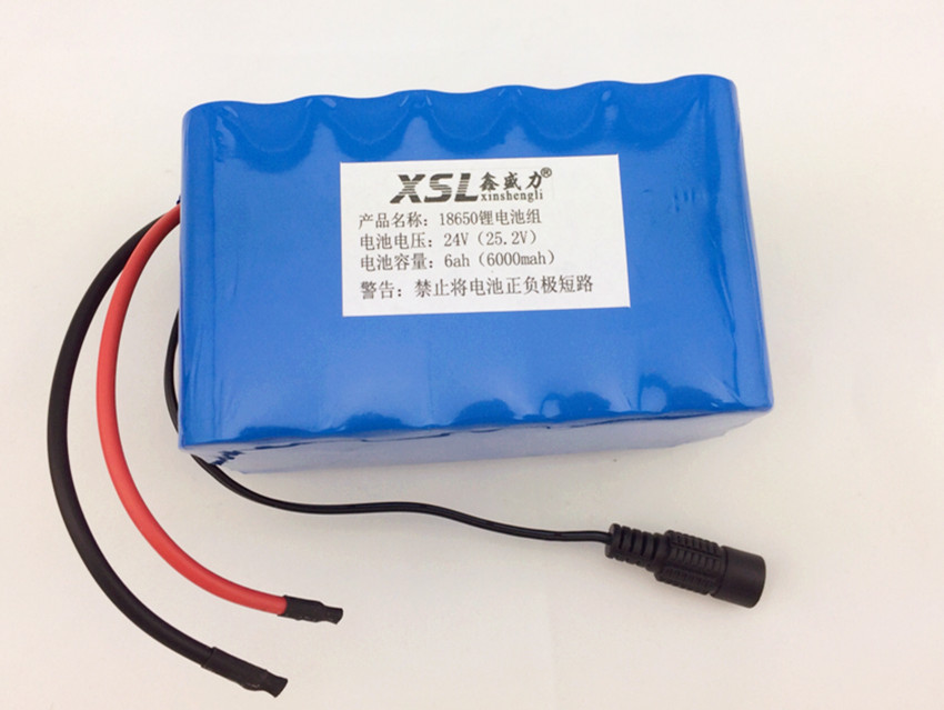 ФОТО 24V 6 Ah 18650 Battery 25.2v lithium battery electric vehicle battery/moped high-capacity+Protection board