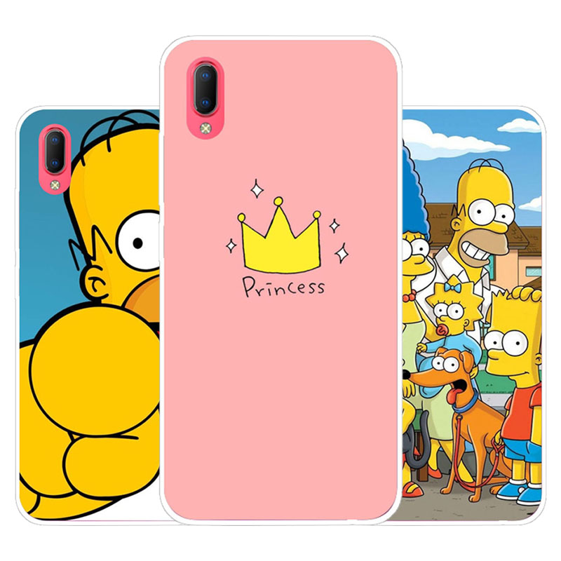 Vivo Y93S Y93 Case,Silicon Joy crown cartoon Painting Soft TPU Back Cover for Vivo Y93S Y93 protect Phone cases