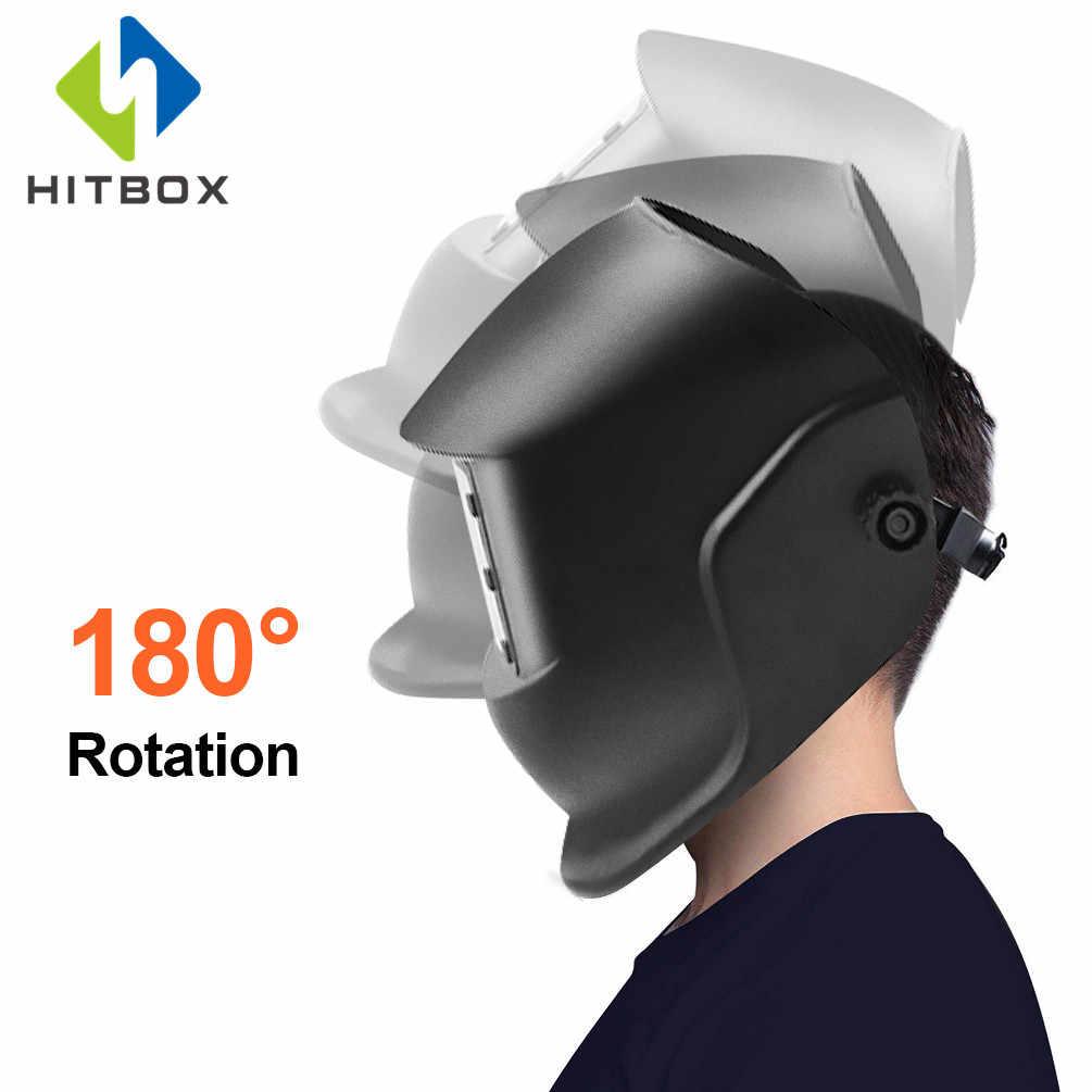 Hitbox Auto Gelap Las Helm Disesuaikan Masker Tengkorak Keren Ringan Nyaman Dipakai Helm Pelindung