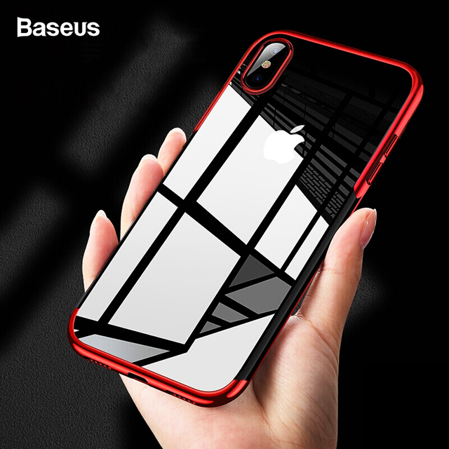 Baseus Luxury Plating Case For iPhone Xs Max Xr Capinhas Soft TPU Silicone Back Cover For iPhone Xsmax For iPhonexs Coque Fundas