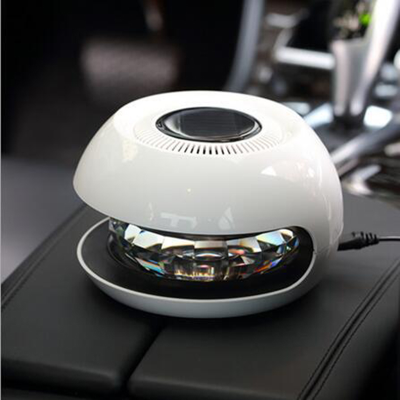 2017 New ! DC 5V Solar Magic K9 Crystal Ball Car Air Purifier 7 Colors Light Essential Oil Aroma Diffuser