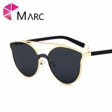 e4fffc489 MARC Doces Marca Designer Cat Eye Óculos De Sol Das Mulheres Óculos de  Plástico Óculos de
