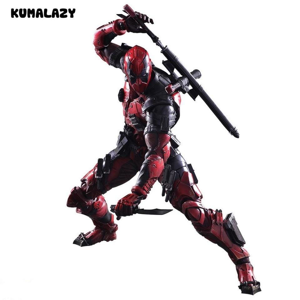 """Play Arts Kai Deadpool Winston Wilson X männer 1//6 Figur Modell 10/"""" Spielzeug"""