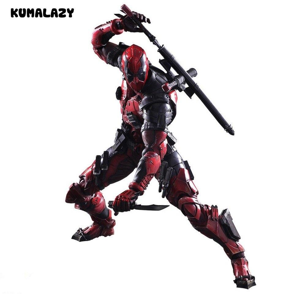 Play Arts Kai Deadpool Winston Wilson X men 1//6 Figura de acción Estatua Juguete