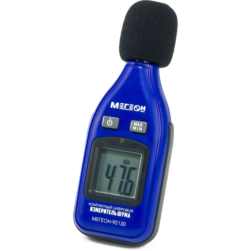 Level meter noise МЕГЕОН 92130 (measuring range 30 ~ 130 dB, LCD display, microphone) high level sensitivity digital lcd display thermo anemometer cfm cmm airflow wind meter temprature tester measuring instrument