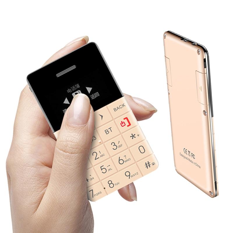 AEKU Qmart Q5 Mini Ultradünne Karte Handy Tasche quad-Band Unterstützung Bluetooth Dialer Tf-karte 0,96 zoll Kredit handy